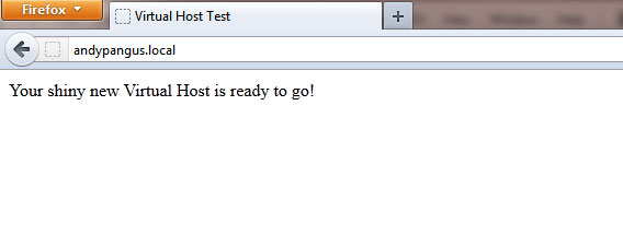 Virtual Host Test Page